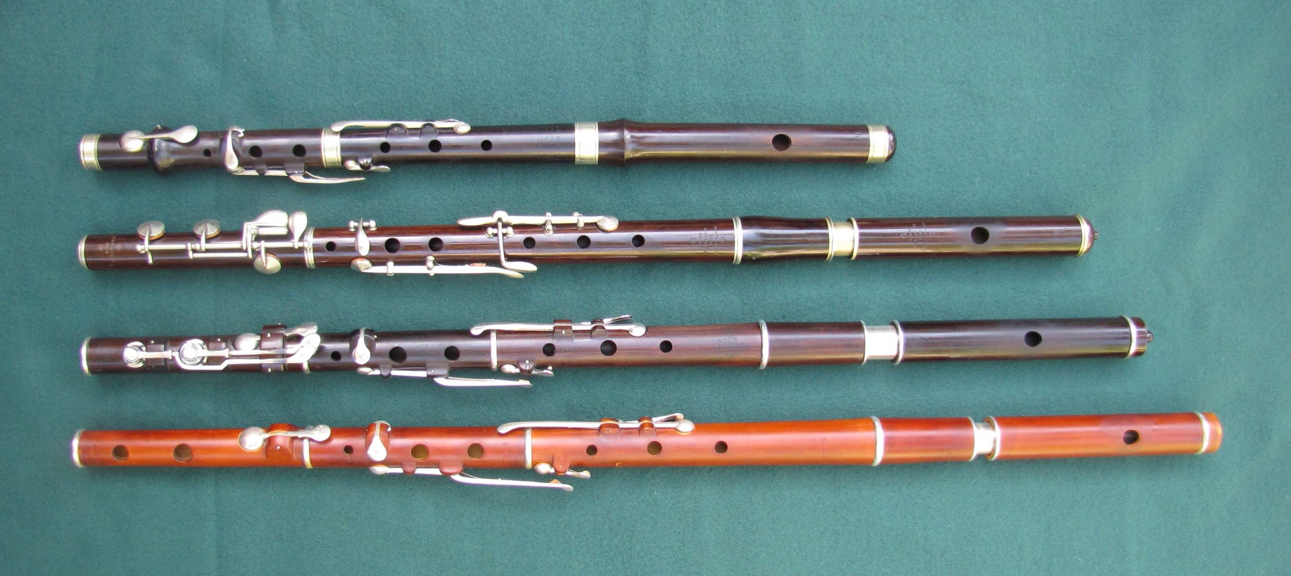The four flutes on A Stroll in the Park Larry Mallette, Irish flute